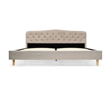 vidaXL Cadre de lit Beige Tissu 180 x 200 cm[3/8]