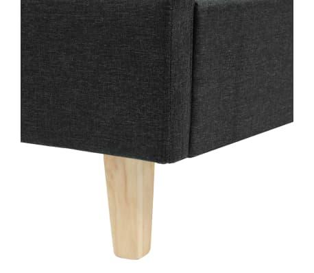 vidaXL Cadre de lit Tissu avec sommier à lattes 160x200 cm Gris foncé[6/8]