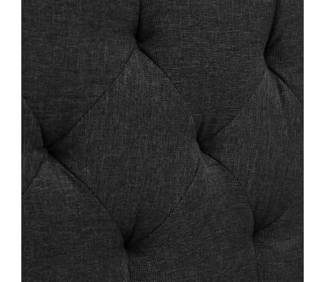 vidaXL Cadre de lit Tissu avec sommier à lattes 160x200 cm Gris foncé[7/8]