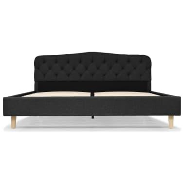 vidaXL Polsterbett Stoff mit Lattenrost 160 x 200 cm Dunkelgrau[3/8]