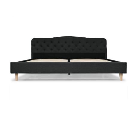 vidaXL Cadre de lit Tissu avec sommier à lattes 180x200 cm Gris foncé[3/8]