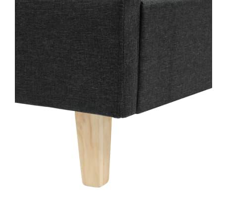 vidaXL Cadre de lit Tissu avec sommier à lattes 180x200 cm Gris foncé[6/8]