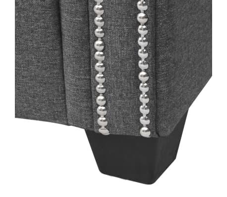 vidaXL Canapé en forme de L Tissu 200 x 140 x 73 cm Gris foncé[7/9]