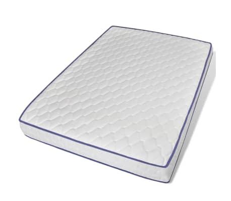 vidaXL Lova su Memory čiužiniu, akacijos mediena, plienas, 140x200cm[8/13]