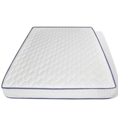 vidaXL Lova su Memory čiužiniu, akacijos mediena, plienas, 140x200cm[9/13]