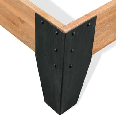 vidaXL Bett mit Matratze Massives Akazienholz Stahl 180x200cm[6/11]