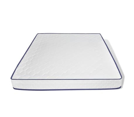 vidaXL Bett mit Memory-Matratze Akazienholz Massiv Stahl 180x200cm[9/13]