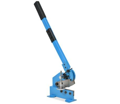 vidaXL sviras metāla griezējs, 125 mm, zils