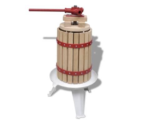 vidaXL Preša za sadje in vino 6 L