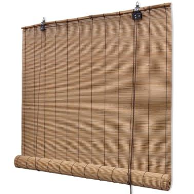 vidaXL Bambusrollo 80 x 220 cm Braun[1/5]
