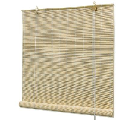 vidaXL Store roulant en bambou 80 x 220 cm Naturel