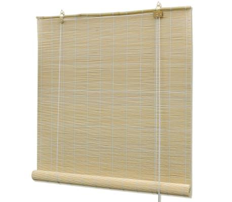 vidaXL Rolgordijn 140x220 cm bamboe natuurlijk