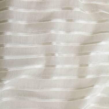 vidaXL tynde gardiner 2 stk. vævet stribet 140 x 245 cm cremefarvet[3/4]
