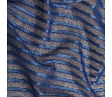 00d3a98332 Olcsó vidaXL 2 db kék, csíkos, szövött fényáteresztő függöny 140 x ...