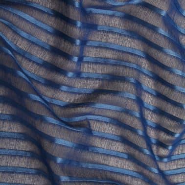 vidaXL Perdele transparente, cu dungi, 2 buc. 140 x 225 cm albastru[4/4]