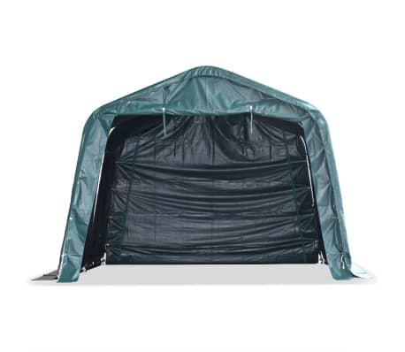 vidaXL eemaldatav loomatelk, PVC 550 g/m², 3,3 x 3,2 m, tumeroheline[2/9]