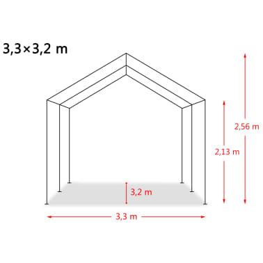 vidaXL eemaldatav loomatelk, PVC 550 g/m², 3,3 x 3,2 m, tumeroheline[9/9]