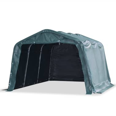 vidaXL Premični šotor za živino 550 g/m² PVC 3,3x4,8 m temno zelen[1/9]