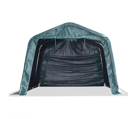 vidaXL Premični šotor za živino 550 g/m² PVC 3,3x4,8 m temno zelen[2/9]