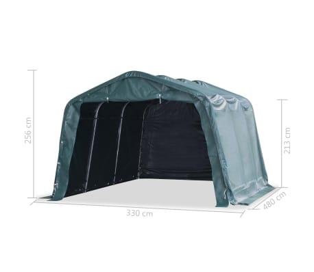 vidaXL Premični šotor za živino 550 g/m² PVC 3,3x4,8 m temno zelen[8/9]