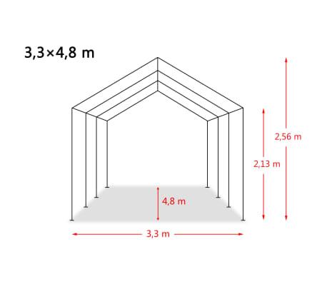 vidaXL Premični šotor za živino 550 g/m² PVC 3,3x4,8 m temno zelen[9/9]