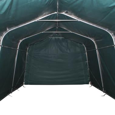 vidaXL Premični šotor za živino 550 g/m² PVC 3,3x4,8 m temno zelen[4/9]