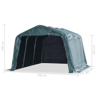 vidaXL eemaldatav loomatelk, PVC 550 g/m², 3,3 x 4,8 m, tumeroheline[8/9]