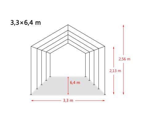 vidaXL eemaldatav loomatelk, PVC 550 g/m², 3,3 x 6,4 m, tumeroheline[10/10]