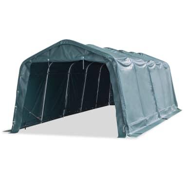 vidaXL Premični šotor za živino PVC 550 g/m² 3,3x8 m temno zelen[2/10]