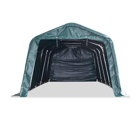 vidaXL Premični šotor za živino PVC 550 g/m² 3,3x8 m temno zelen[3/10]