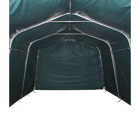 vidaXL Premični šotor za živino PVC 550 g/m² 3,3x8 m temno zelen[5/10]