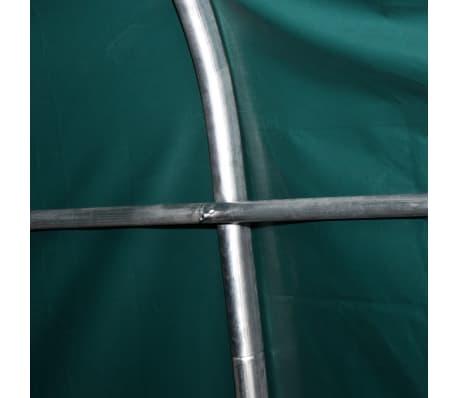 vidaXL Premični šotor za živino PVC 550 g/m² 3,3x8 m temno zelen[6/10]