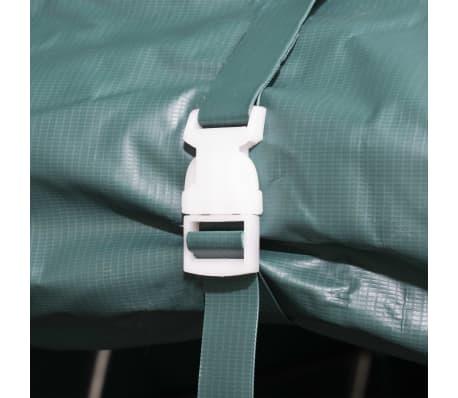 vidaXL Premični šotor za živino PVC 550 g/m² 3,3x8 m temno zelen[7/10]