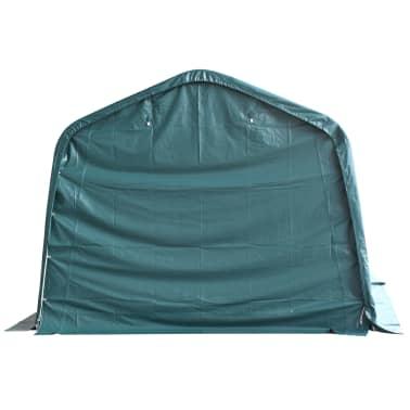 vidaXL Premični šotor za živino PVC 550 g/m² 3,3x8 m temno zelen[4/10]