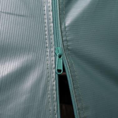 vidaXL Premični šotor za živino PVC 550 g/m² 3,3x8 m temno zelen[8/10]