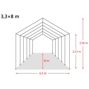 vidaXL Premični šotor za živino PVC 550 g/m² 3,3x8 m temno zelen[10/10]