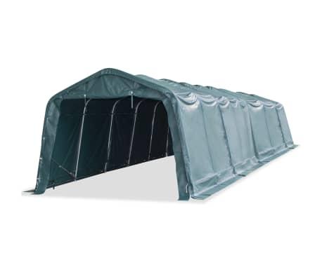 vidaXL Nuimama palapinė gyvuliams, PVC, 550g/m², 3,3x12,8m, t. žalia[1/9]