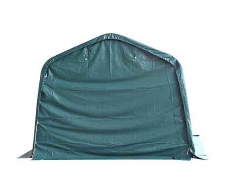vidaXL Nuimama palapinė gyvuliams, PVC, 550g/m², 3,3x12,8m, t. žalia[3/9]