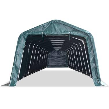vidaXL eemaldatav loomatelk, PVC 550 g/m², 3,3 x 16 m, tumeroheline[2/9]