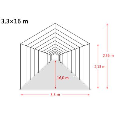 vidaXL eemaldatav loomatelk, PVC 550 g/m², 3,3 x 16 m, tumeroheline[9/9]