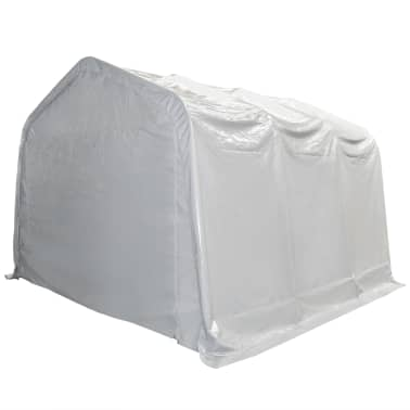 vidaXL Tente de rangement PVC 4 x 6 m Blanc[2/6]