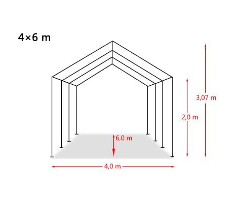 vidaXL Tente de rangement PVC 4 x 6 m Blanc[6/6]