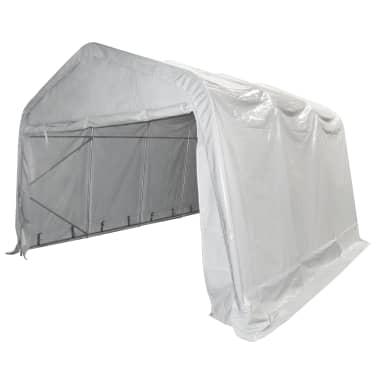 vidaXL Tente de rangement PVC 4 x 6 m Blanc[3/6]
