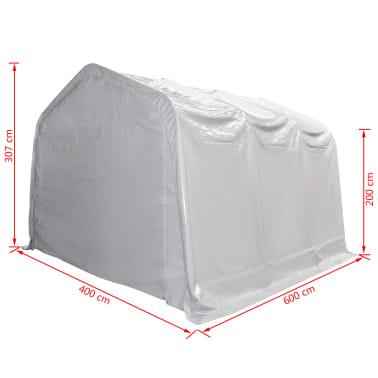 vidaXL Tente de rangement PVC 4 x 6 m Blanc[5/6]