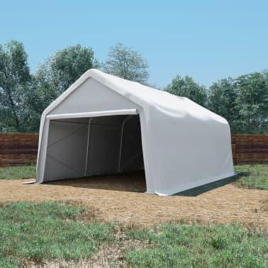 vidaXL Tente de rangement PVC 4 x 6 m Blanc[1/6]