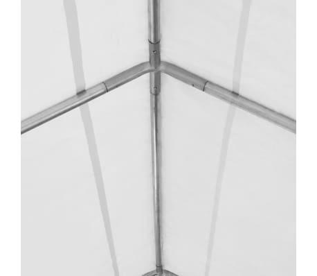 vidaXL Tente de rangement PVC 550 g/m² 4 x 8 m Blanc[4/6]