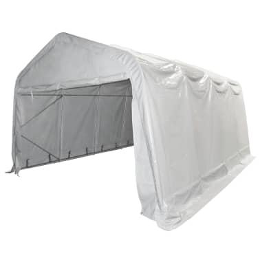 vidaXL Tente de rangement PVC 550 g/m² 4 x 8 m Blanc[3/6]