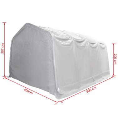 vidaXL Tente de rangement PVC 550 g/m² 4 x 8 m Blanc[5/6]