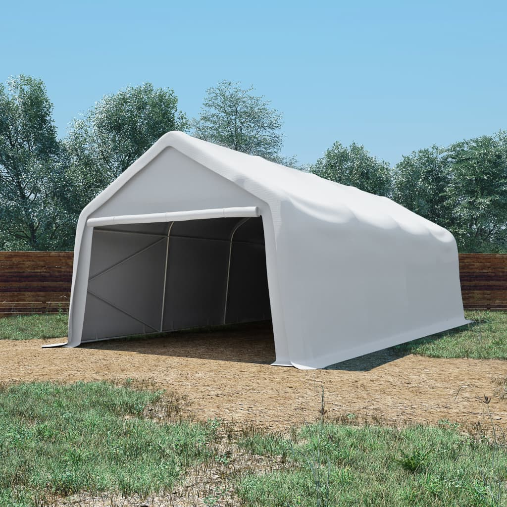 vidaXL Cort de depozitare, alb, 4 x 8 m, PVC, 550 g/m² vidaxl.ro