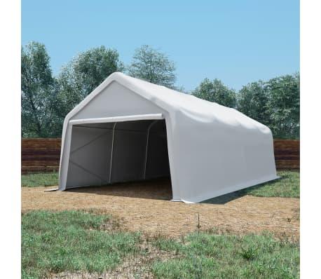 vidaXL Tente de rangement PVC 550 g/m² 4 x 8 m Blanc[1/6]